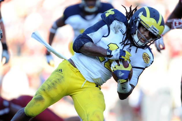 Denard Robinson to Senior Bowl as WR