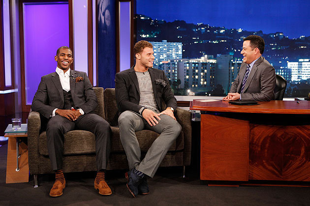 Chris Paul, Blake Griffin celebrate Clippers rise on 'Jimmy Kimmel Live' (VIDEO)