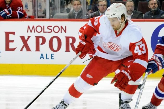 Red Wings Darren Helm Will Miss Start of Camp with Injury