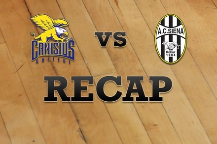 Canisius vs. Siena: Recap and Stats
