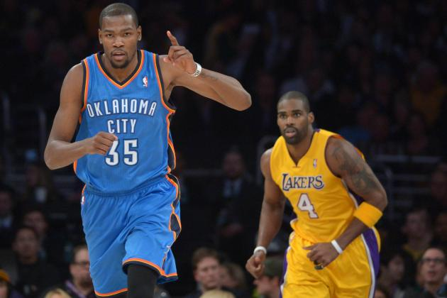 Durant Nets 42, Thunder Drop Spiraling Lakers