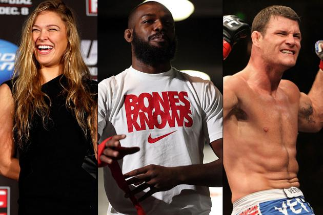 2012 World MMA Awards: Jon Jones, Ronda Rousey, Michael Bisping Win Big