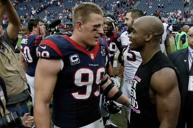 All-Pro Team Headlined by Adrian Peterson, J.J. Watt