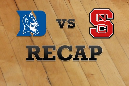 Duke vs. North Carolina State: Recap and Stats