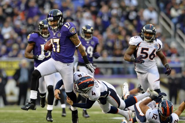 Tandon Doss Tackled by Ravens Teammate on Punt Return