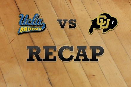 UCLA vs. Colorado: Recap and Stats