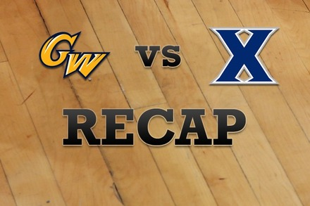George Washington vs. Xavier: Recap and Stats