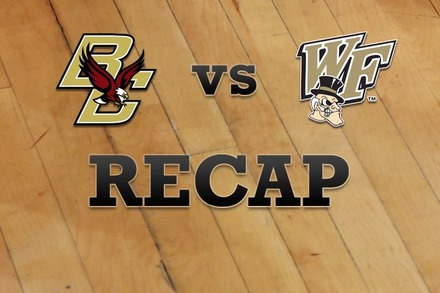 Boston College vs. Wake Forest: Recap and Stats