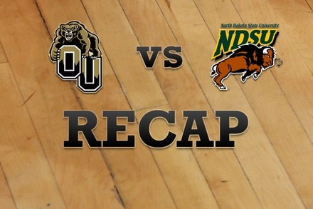 Oakland vs. North Dakota State: Recap and Stats