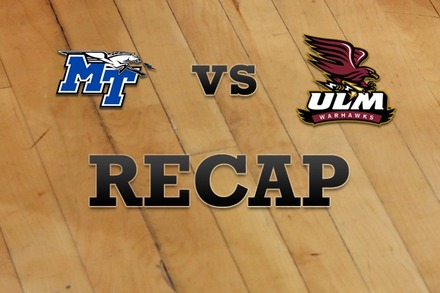 Middle Tennessee State vs. Louisiana-Monroe: Recap and Stats