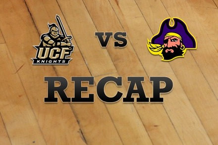 UCF vs. East Carolina: Recap and Stats