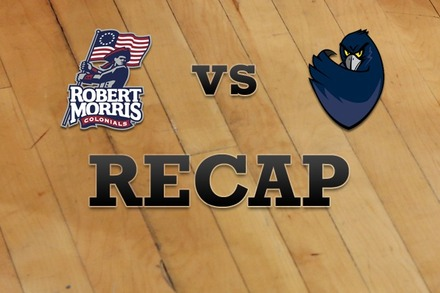 Robert Morris  vs. Monmouth: Recap and Stats