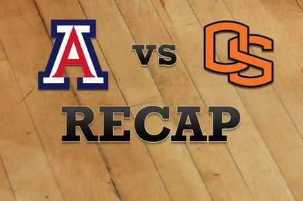 Arizona vs. Oregon State: Recap and Stats
