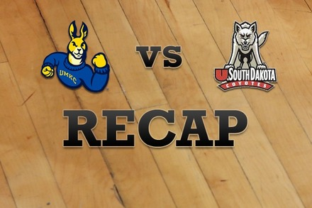 UMKC vs. South Dakota: Recap and Stats