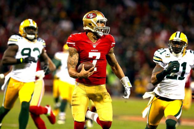 Colin Kaepernick Breaks QB Rushing Record with Whopping 181-Yard Game vs Packers