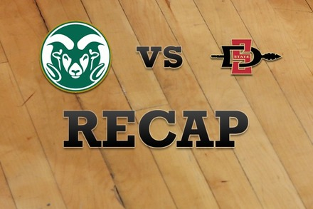 Colorado State vs. San Diego State: Recap and Stats