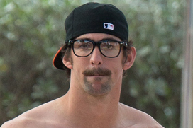 Phelps Rocking a New Stache
