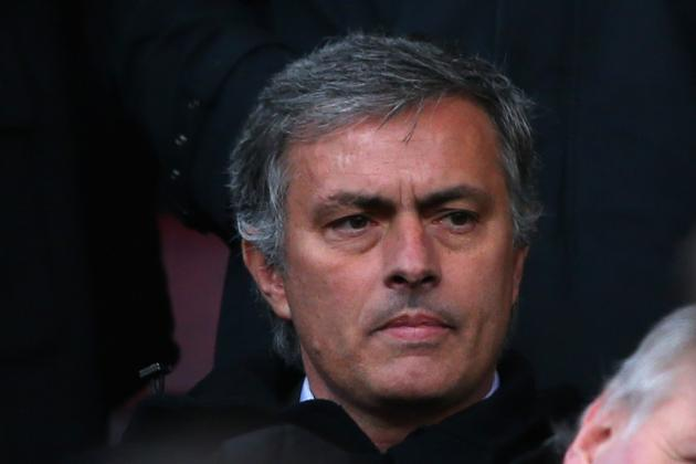 Jose Mourinho All Smiles as Real Boss Takes in Big Match at Old Trafford