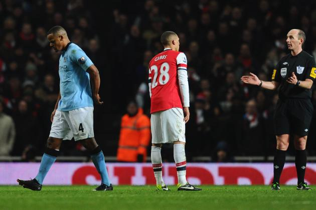 Manchester City: Vincent Kompany Sent off After Clean Tackle