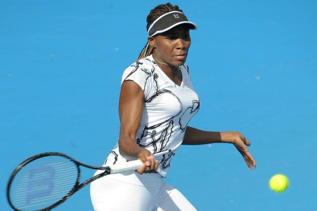 Venus Williams Defeats Galina Voskoboeva at 2013 Australian Open