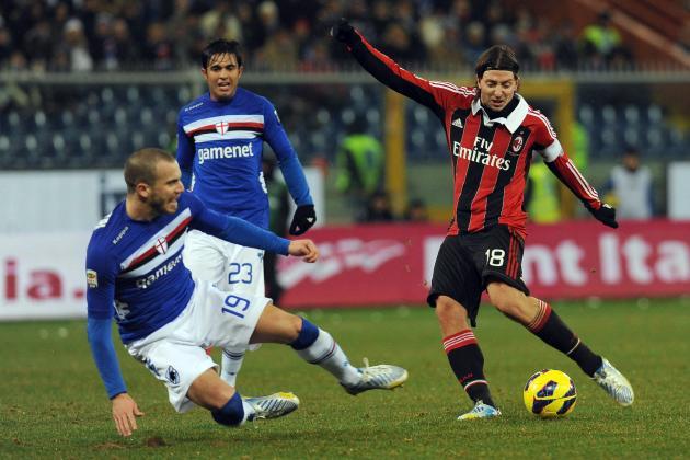 Sampdoria Earn AC Milan Draw