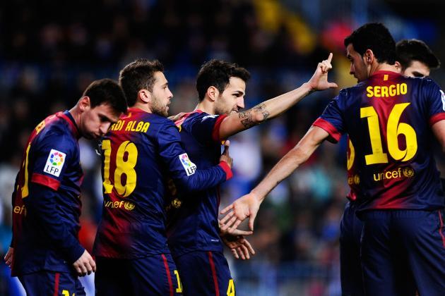 Malaga 1-3 Barcelona: Messi nets in win
