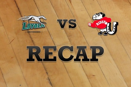 Loyola (MD) vs. Rider: Recap and Stats