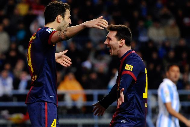 Malaga 1 Barcelona 3: Messi Strikes Yet Again Before Turning Provider for Cesc