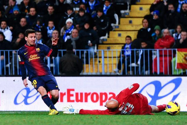 Messi does it all as Barcelona rolls at Malaga