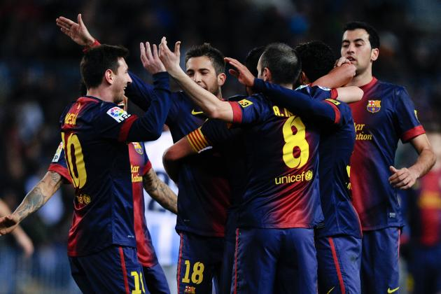 Player Ratings for Barcelona in 3-1 Win over Malaga