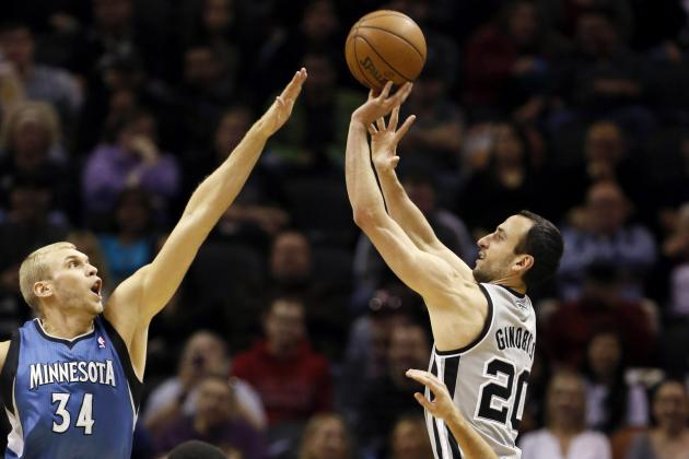 Ginobili Injured in Spurs' Win over Timberwolves