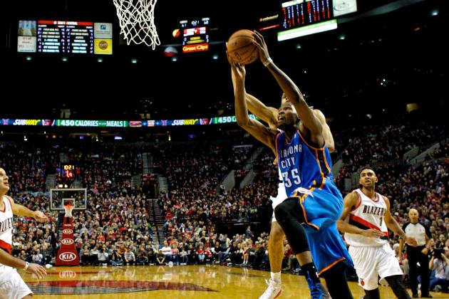 Durant Has 33 and Thunder Beats Blazers 87-83