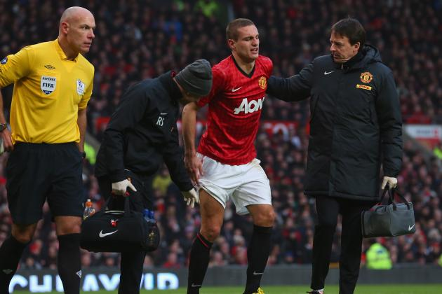 Manchester United: Ashley Young, Nemanja Vidic Injuries Put Damper on Big Win