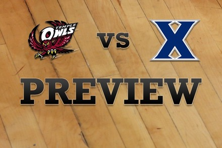 Temple vs. Xavier: Full Game Preview