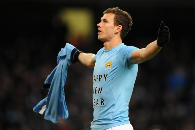 Dzeko, Tevez and Balotelli Get Shirty: Messages on Undershirts Must Be Banned
