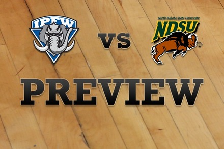 IPFW vs. North Dakota State: Full Game Preview