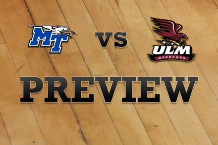 Middle Tennessee State vs. Louisiana-Monroe: Full Game Preview