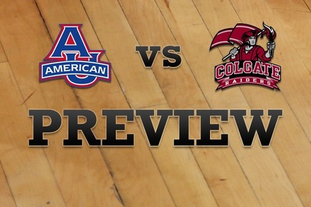 American University vs. Colgate: Full Game Preview