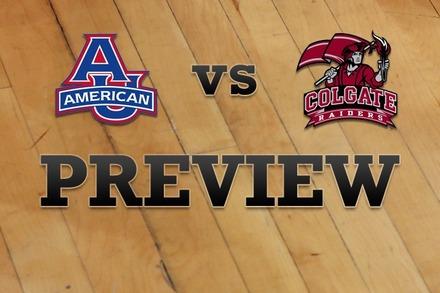 American University vs. Colgate: Full Game Preview