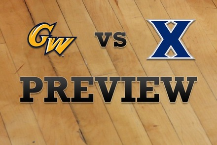 George Washington vs. Xavier: Full Game Preview