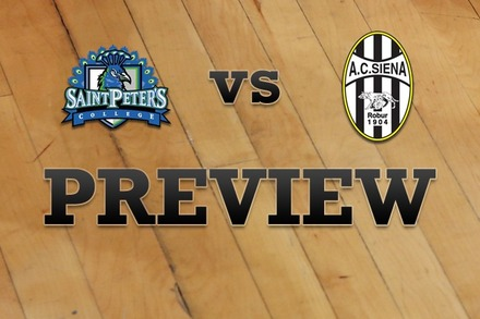 St. Peter's vs. Siena: Full Game Preview