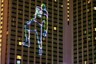 The Baltimore Marriott Waterfront Has a 'Ray Lewis Dance' Laser Show Up