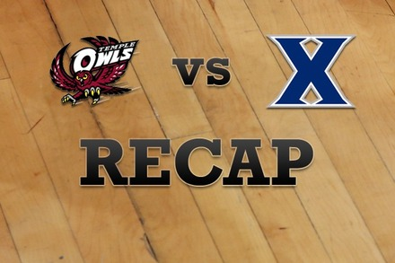 Temple vs. Xavier: Recap and Stats