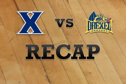 Xavier vs. Drexel: Recap and Stats