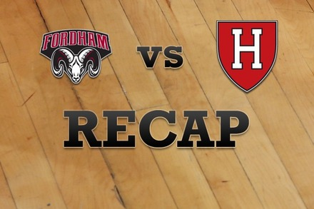 Fordham vs. Harvard: Recap and Stats