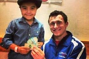 Johnny Manziel Pokes Fun at Football Haters While Doing Great for Cancer Patient