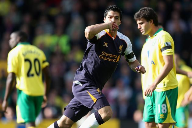 Liverpool Videos: Which Luis Suarez Hat-Trick vs. Norwich City Was Better?