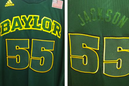 "New Baylor ""Bleed Out"" Jerseys with Invisible Lettering, Basically"