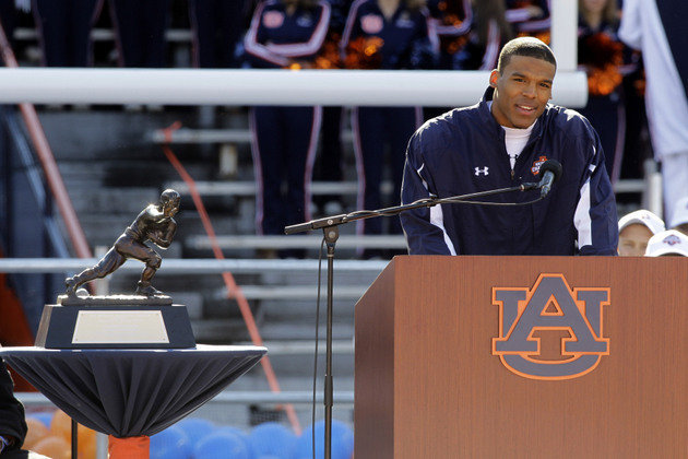 Cam Newton Comes Back to Auburn to Take Classes This Semester Toward His Degree