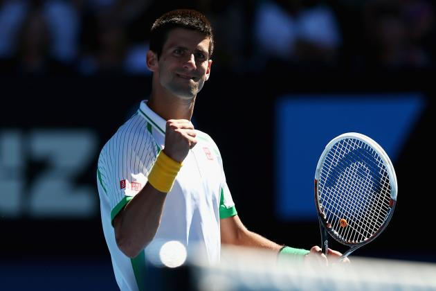 Novak Djokovic Defeats Ryan Harrison At 2013 Australian Open